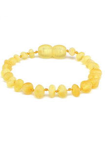 Amber Barnsteen kinder armband 16,5cm - lemon raw