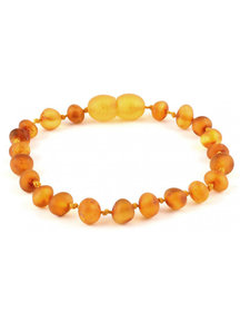 Amber Barnsteen kinder armband 16,5cm - honey raw