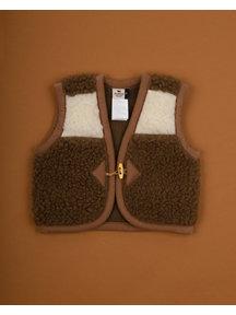 Alwero Hesje van wol pluche - naturel/bruin