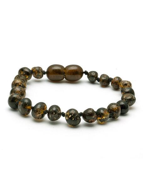 Amber Barnsteen dames armband 19cm - olive