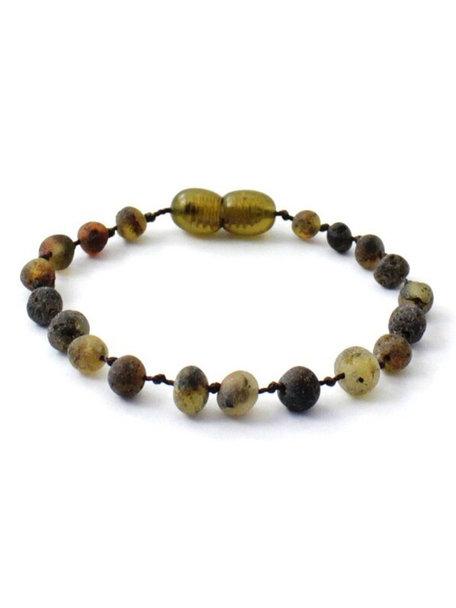 Amber Barnsteen dames armband 18cm - olive raw