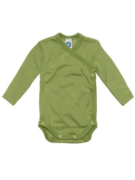 Cosilana Wikkelromper van wol/zijde - groen