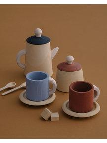 Raduga Grez theeset van hout - terra blue