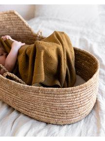 Hvid Baby deken van wol Bibi - rust