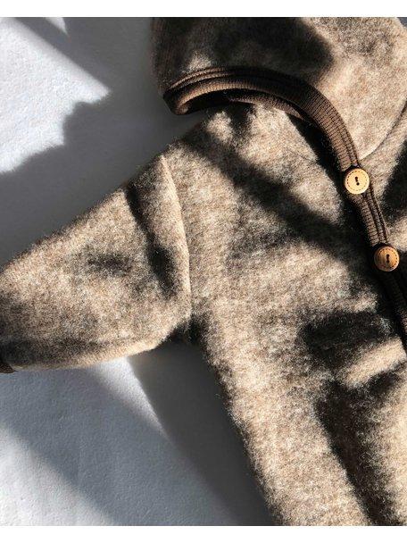 Cosilana Overall van wolfleece - bruin