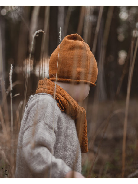 Hvid Efa beanie - rust
