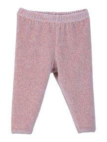 Serendipity Baby legging van velours - poeder roze