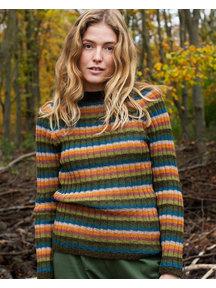 Serendipity Dames trui van alpaca - regenboog