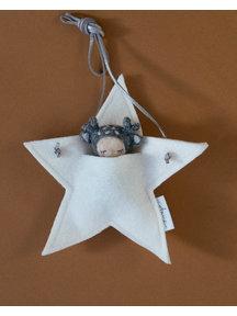Studio Motane Reindeer with star pocket - grey