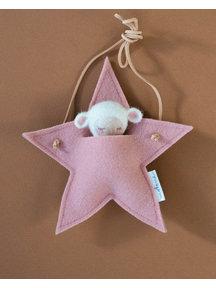 Studio Motane Lamb with star pocket - white