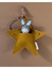 Studio Motane Rabbit with star pocket - beige melange