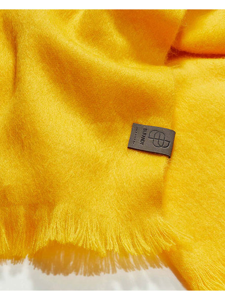 Bufandy Brushed solid shawl - mellow yellow