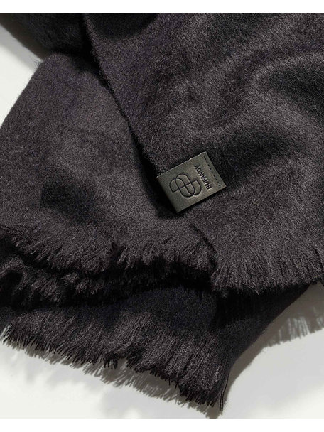 Bufandy Brushed solid shawl - zwart