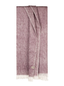Bufandy Brushed solid shawl - mauve canvas