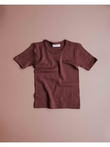 Unaduna Kind shirt korte mouw - henna dune