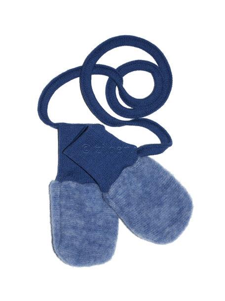 Cosilana Wantjes van wolfleece - donkerblauw