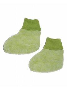 Cosilana Slofjes van wolfleece  - groen