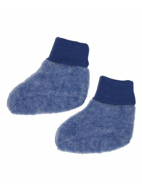 Cosilana Slofjes van wolfleece - donkerblauw