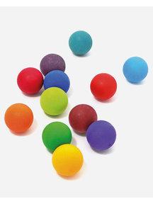 Grimm's Kleine houten ballen 12 stuks - regenboog