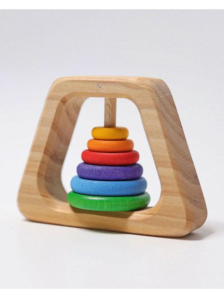 Grimm's Pyramide rammelaar met kleurtjes