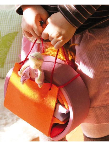 Grimm's Poppenhuis om mee te nemen - roze