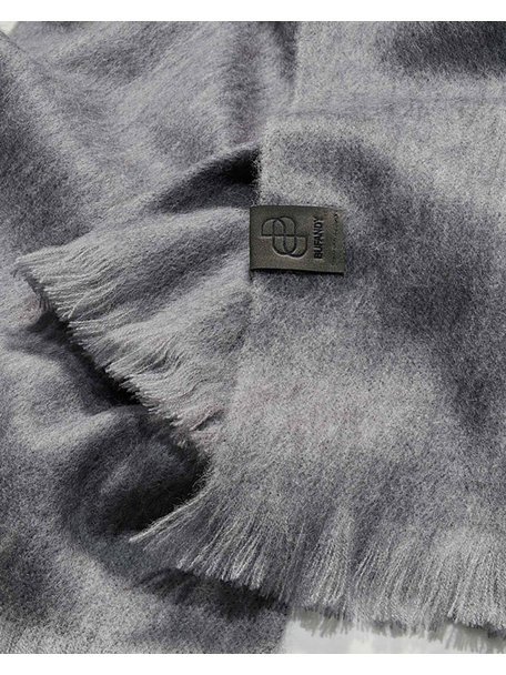 Bufandy Brushed solid shawl - mouse grey
