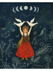 Boeken & Kaarten Tijana draws - gevouwen kaart Walk in the Moon Dust