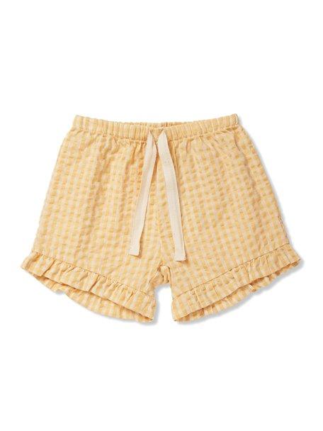 Konges Sløjd Acacia shorts - yellow check