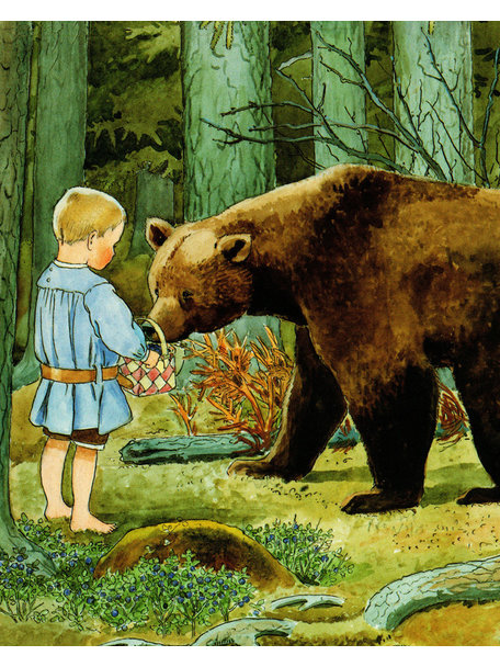 Elsa Beskow Elsa Beskow kaart - Kleine Olle en de beer