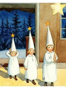 Elsa Beskow Elsa Beskow kaart - De sterrenkindjes