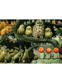 Boeken & Kaarten Elsa Beskow kaart - Kabouterkinderen bij de dieren