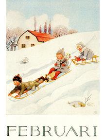 Boeken & Kaarten Elsa Beskow kaart - Februari