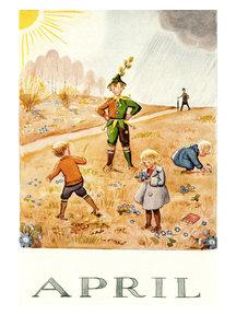 Boeken & Kaarten Elsa Beskow kaart - April