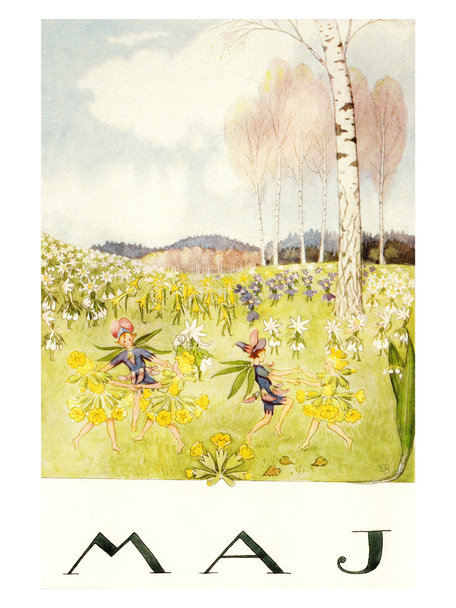 Boeken & Kaarten Elsa Beskow kaart - Mei (Maj)