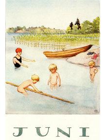 Boeken & Kaarten Elsa Beskow kaart - Juni