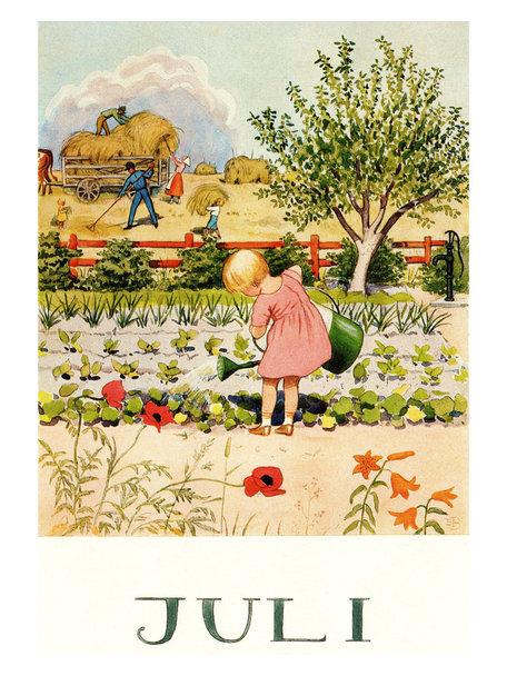 Boeken & Kaarten Elsa Beskow kaart - Juli