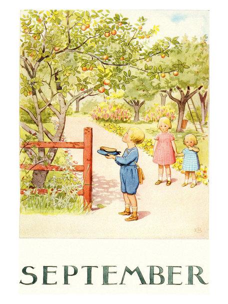 Boeken & Kaarten Elsa Beskow kaart - September
