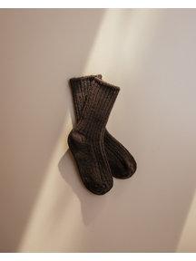 Joha Dikke wollen sokjes - donkerbruin