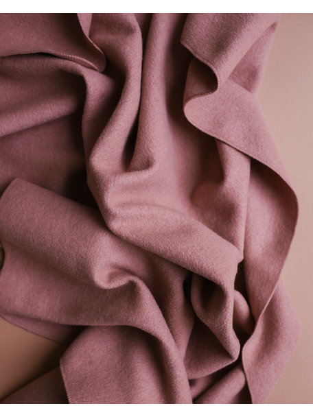 Disana Deken van gekookte wol - oud roze