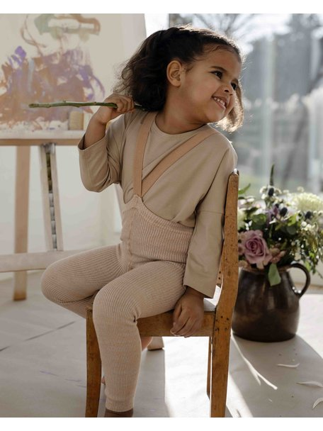 Silly Silas Maillot met bretels zonder voetjes - silverly brown