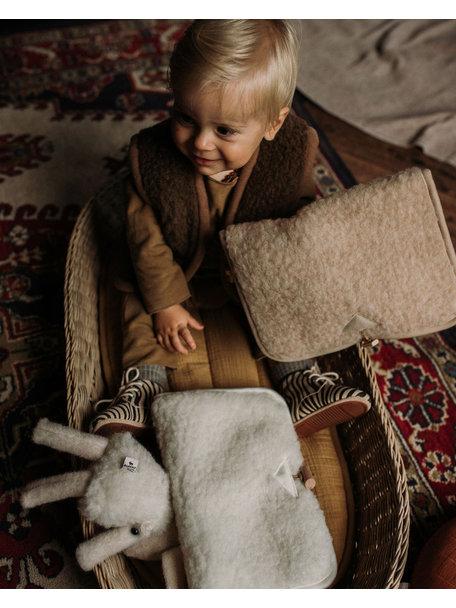 Alwero Luieretui van wol pluche - beige