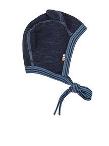 Joha Wollen beren mutsje met oortjes - blauw