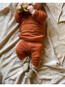 Unaduna Babylegging pointelle - umber