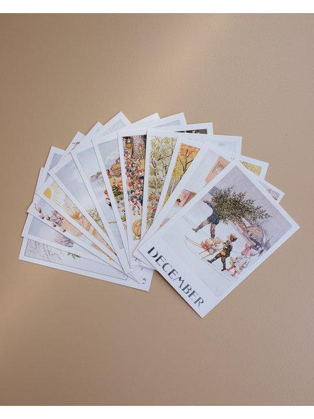 Elsa Beskow Elsa Beskow set maand kaarten (12 stuks)