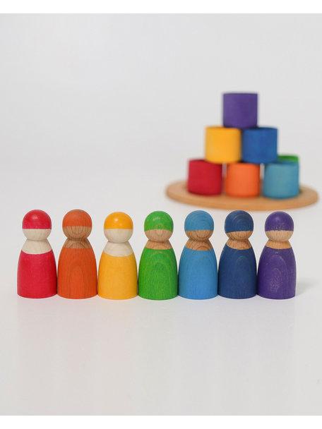 Grimm's Regenboog vriendjes in een bakje 7-delig
