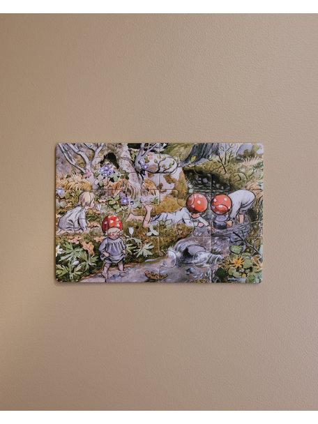 Elsa Beskow Elsa Beskow 4 houten puzzels - Kabouterkinderen