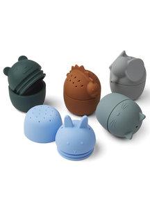 Liewood Gaby bad speelgoed 5-pack - blauw