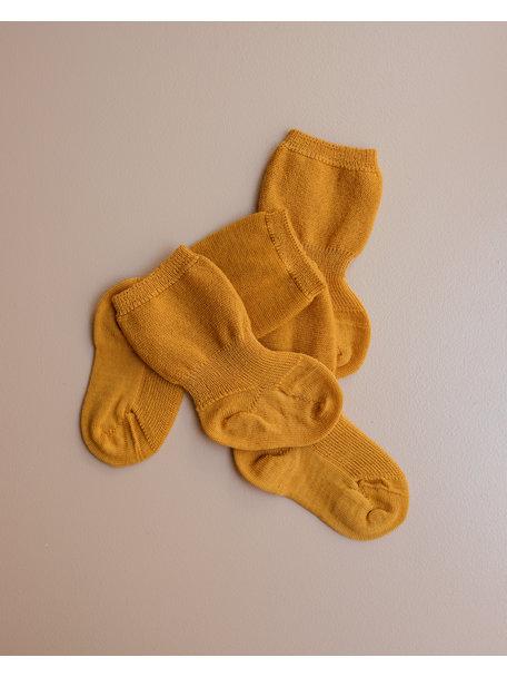 Grödo Wollen spekbeen sokken - zonnegeel (limited)