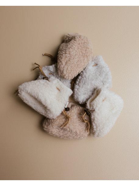Alwero Slofjes van wol pluche (exclusief bij Ziloen) - grijs