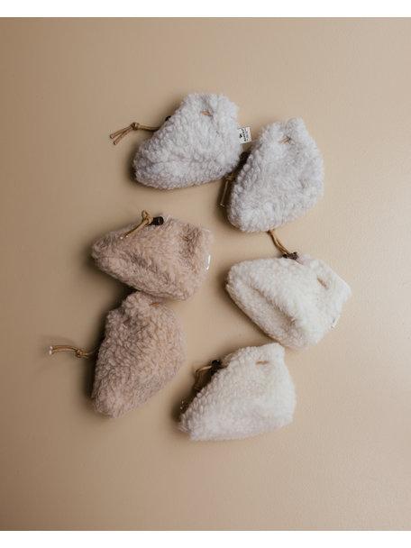 Alwero Slofjes van wol pluche (exclusief bij Ziloen) - beige